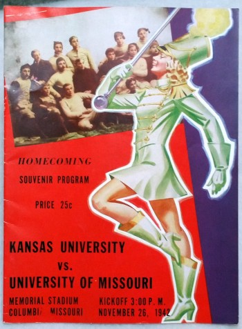 Image for Homecoming Souvenir Program, Kansas University Vs. University of Missouri, November 26, 1942 at Memorial Stadium, Columbia Missouri