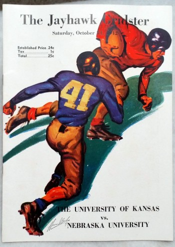 Image for [Souvenir Football Game Program] The Jayhawk Gridster, Saturday, October 31, 1942, The University of Kansas Vs. Nebraska University