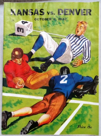 Image for [Souvenir Football Game Program] Kansas Vs. Denver, October 2, 1942