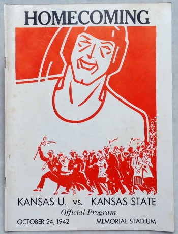 Image for Homecoming Official Program, Kansas U. Vs. Kansas State, October 24, 1942, Memorial Stadium