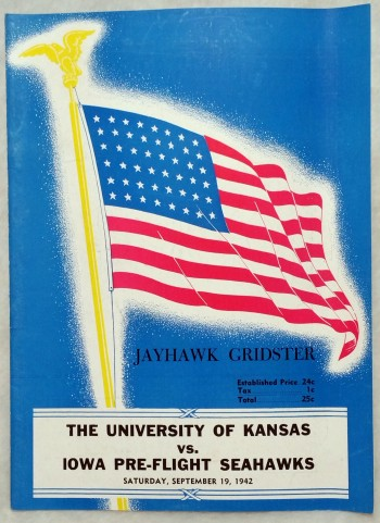 Image for [Souvenir Football Game Program], Kansas Vs. Iowa Pre-Flight Seahawks, Saturday, September 19, 1942