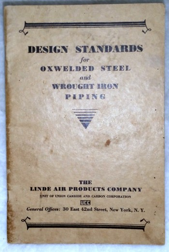 Image for Design Standards for Oxwelded Steel and Wrought Iron Piping