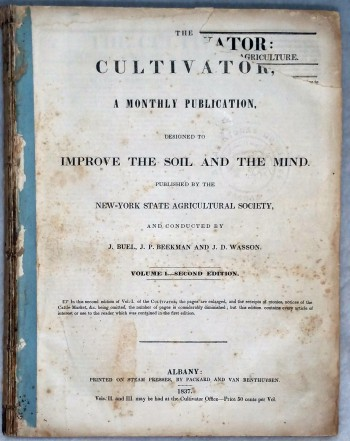 Image for The Cultivator, A Monthly Publication Devoted to the Improvement of the Soil and the Mind, Volume I