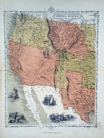 "Image for [Map] ""United States West"" from unknown Source"