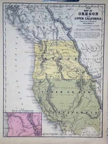 "Image for [Map] ""Map of Oregon and Upper California"" from Mitchell's School and Family Geography"