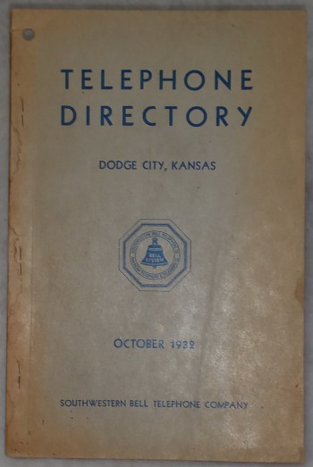 Image for Telephone Directory, Dodge City, Kansas, October 1932