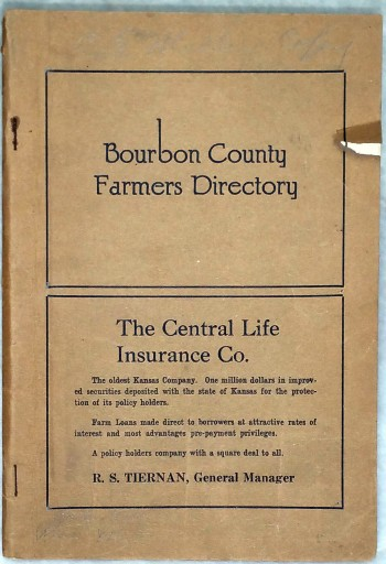 Image for Bourbon County Farmers' Director, Containing the Names and Addresses of All Bourbon County Famers arranged In Alphabetical Order