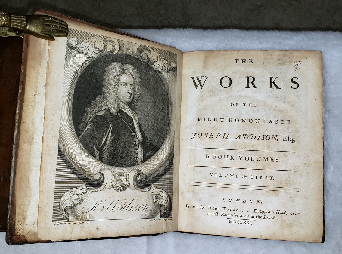 Image for The Works of the Right Honourable Joseph Addison, Esq; in Four Volumes (For Volumes)