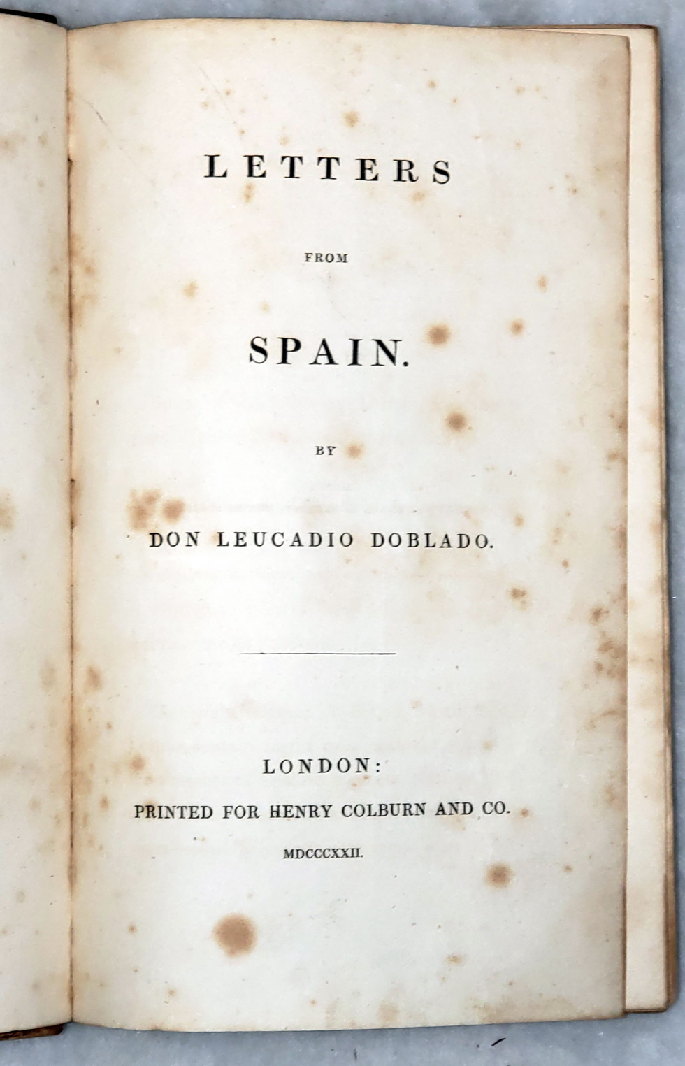 Image for Letters from Spain
