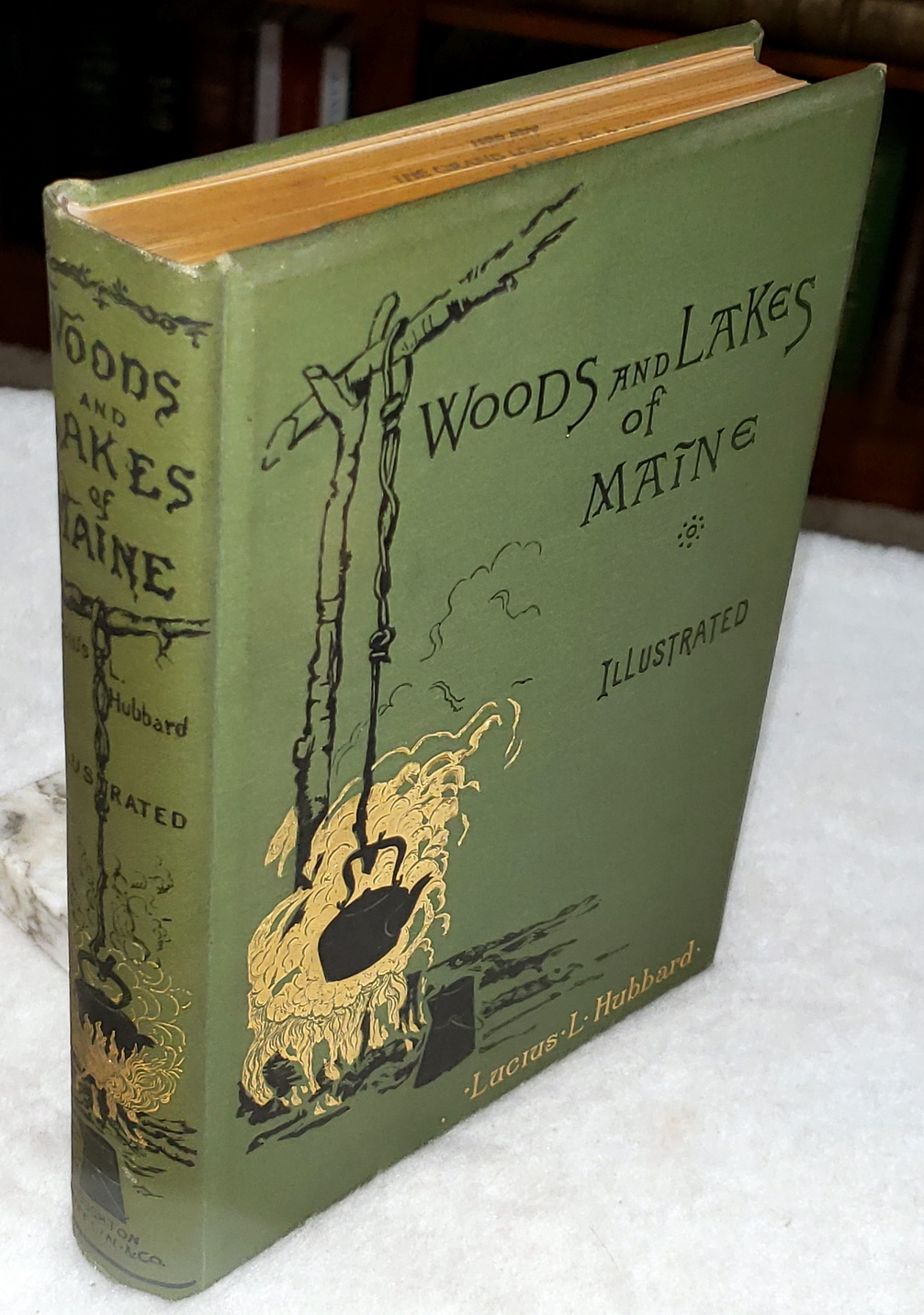 Image for Woods and Lakes of Maine:  A Trip from Moosehead Lake to New Brunswick in a Birch-Bark Canoe to Which are Added Some Indian Place-Names and Their Meanings Now First Published