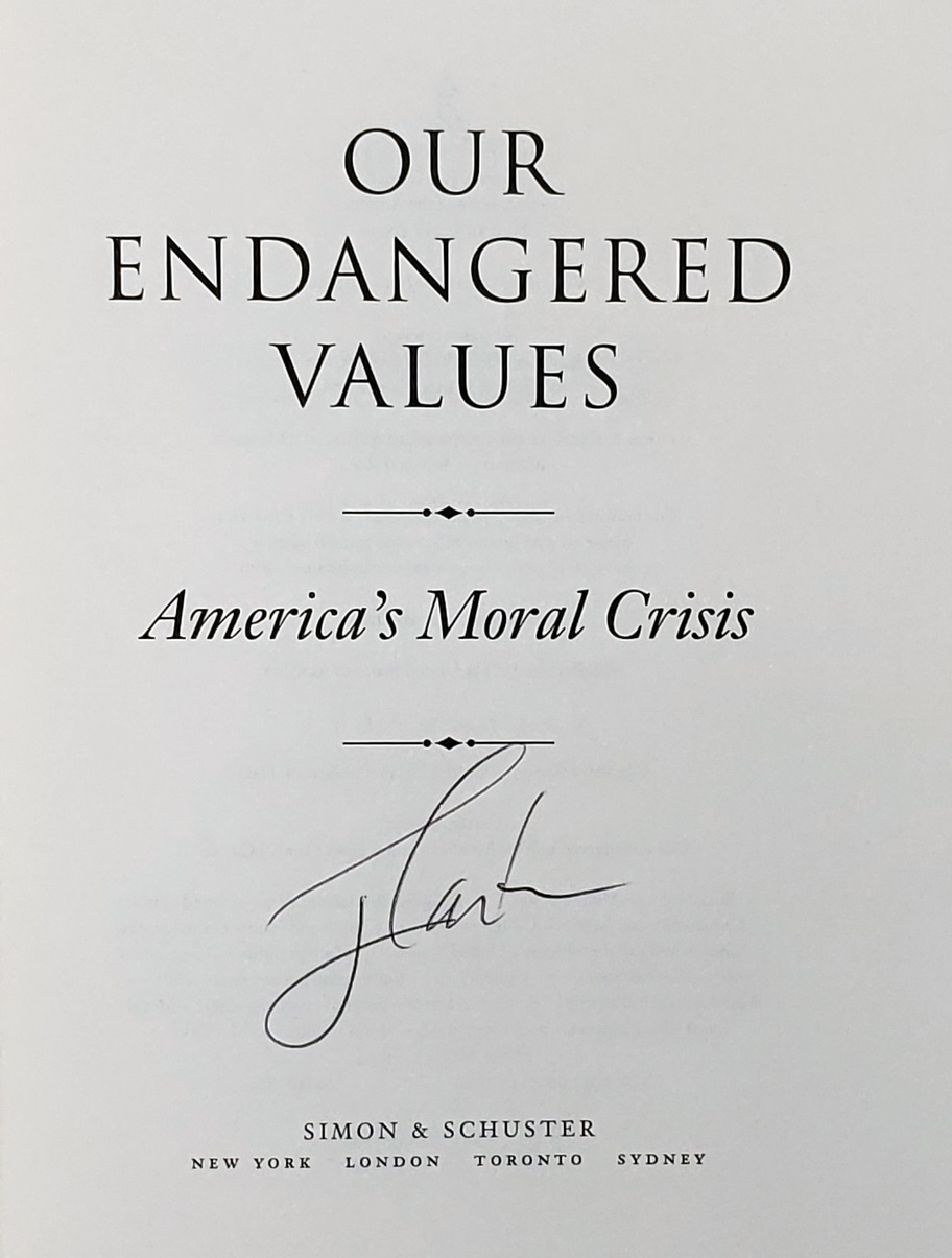 Image for Our Endangered Values:  American's Moral Crisis