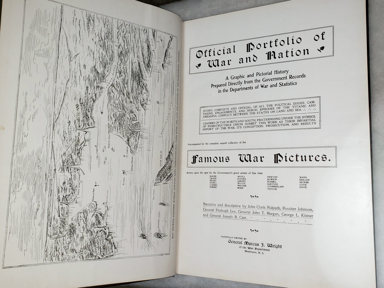 Image for Official Portfolio of War and Nation:  A Graphic and Pictorial History Prepared Directly from the Government Records in the Departments of War and Statistics...
