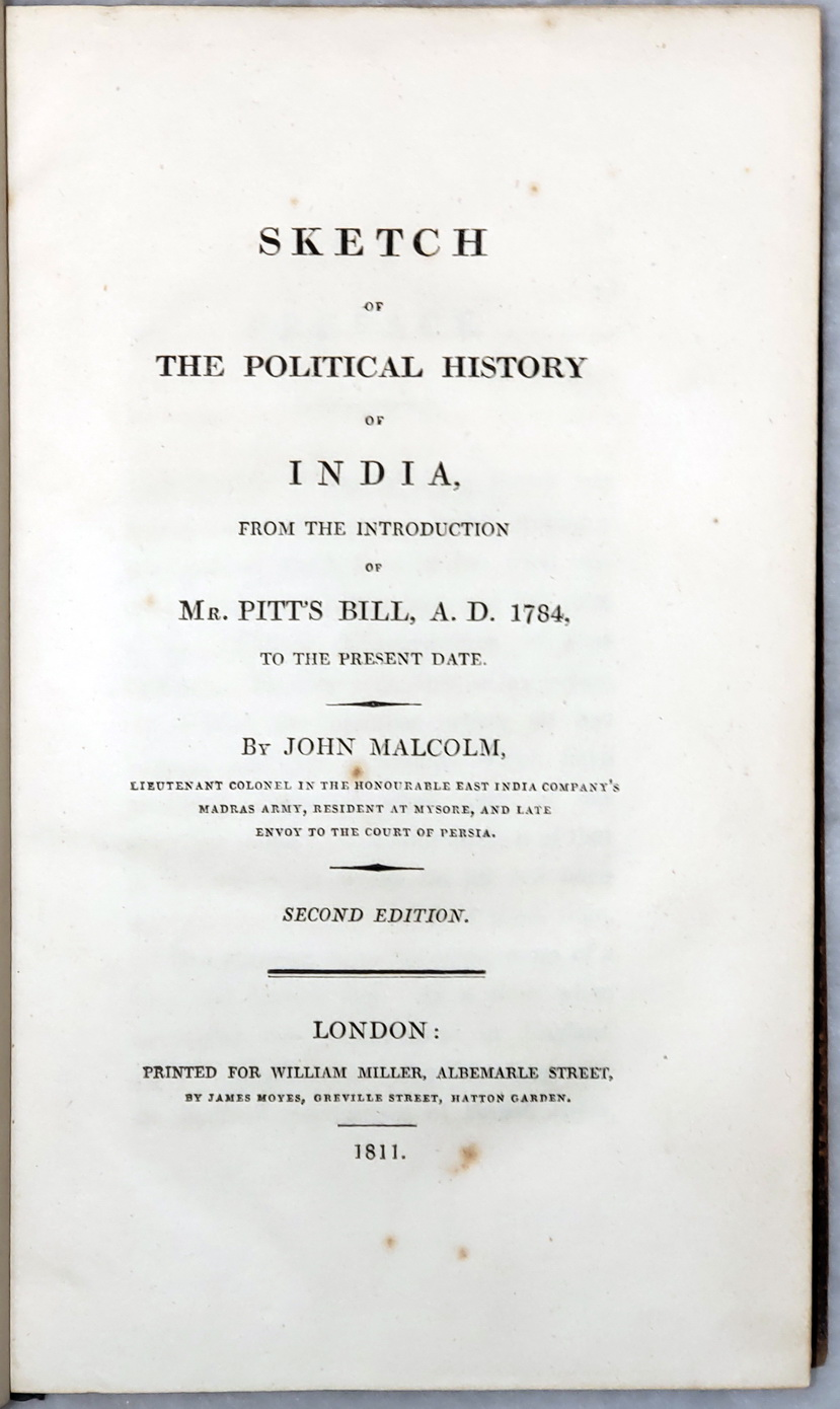 Image for Sketch of the Political History of India, from the Introduction of Mr. Pitt's Bill, A.D. 1784, to the Present Date