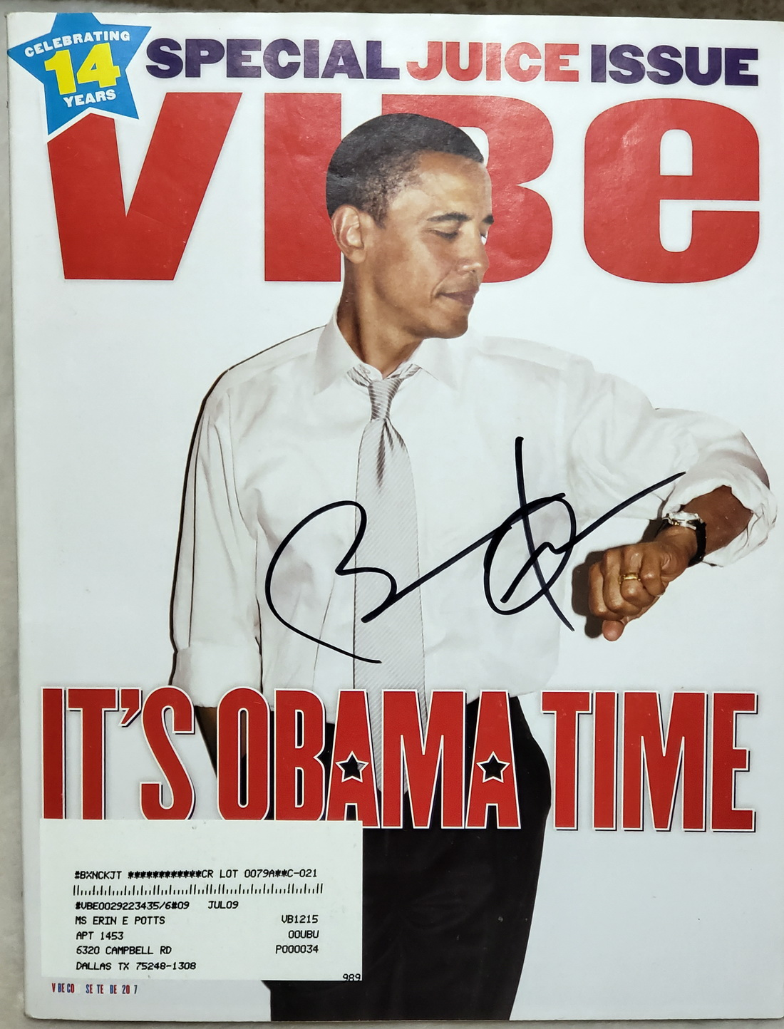 Image for Vibe [Magazine], September 2007, with Barack Obama Cover, Signed