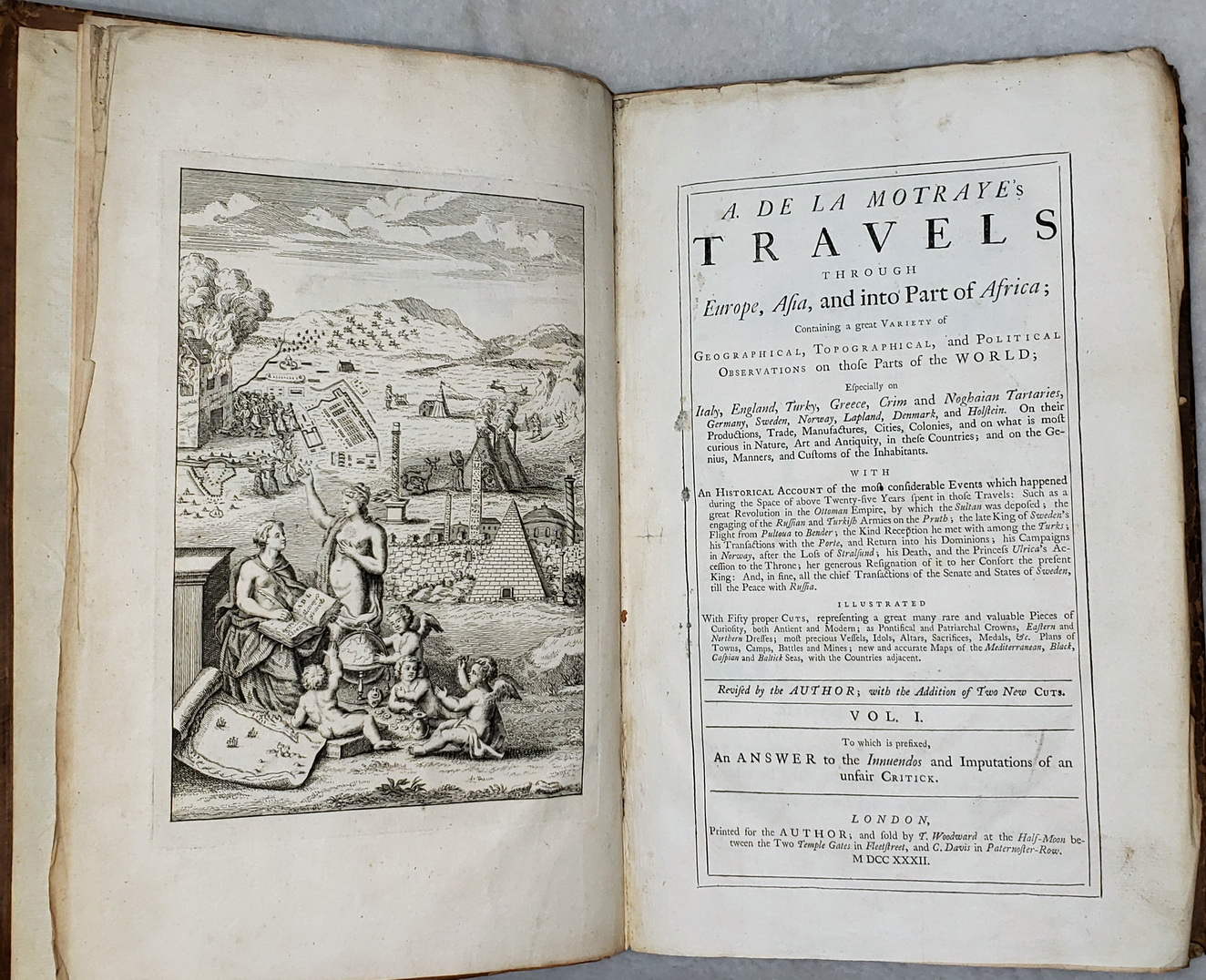 Image for A. De La Motraye's Travels Through Europe, Asia, and Into Part of Africa; Containing a Great Variety of Geographical, Topographical, and Political Observations On These Parts of the World (Three Volumes)