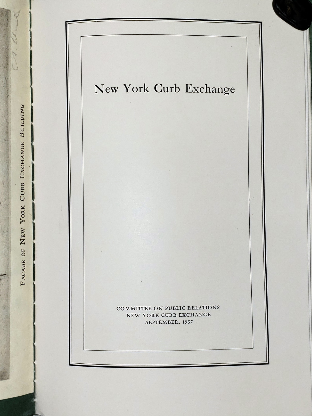 Image for New York Curb Exchange