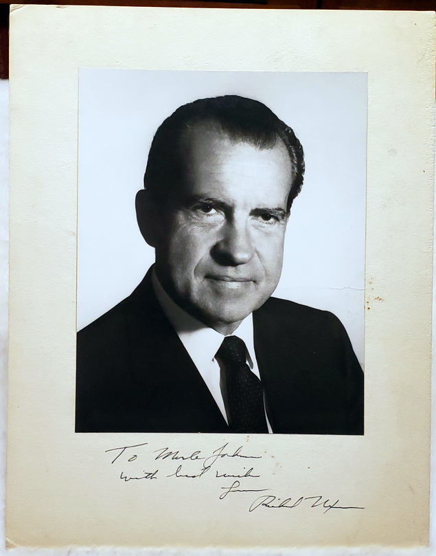 Image for Inscribed Portrait Photograph of Richard Nixon