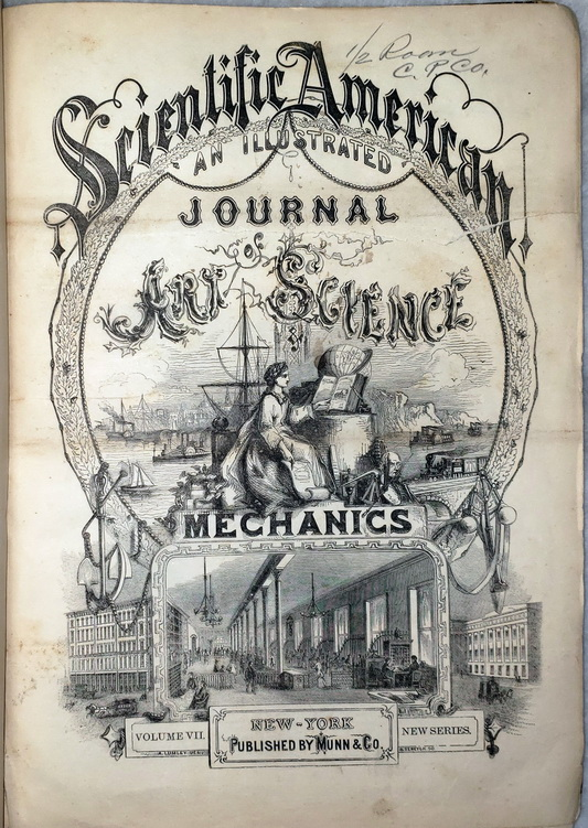 Image for Scientific American:  An Illustrated Journal of Art, Science, & Mechanics, Volume VII (July 5 - December 27, 1862)