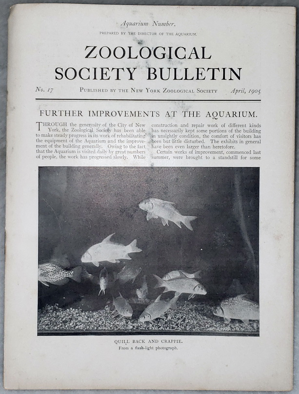Image for Zoological Society Bulletin, No. 17, April, 1905 (Aquarium Number)