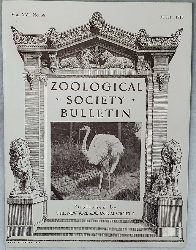 Image for Zoological Society Bulletin, Vol. XVI. No. 58, July, 1913