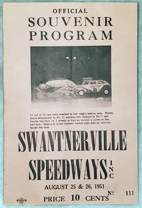 Image for Official Souvenir Program, Swantnerville Speedways, Inc., August 25 & 26, 1951