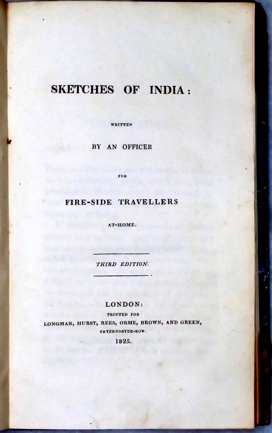 Image for Sketches of India: Written By an Officer for Fire-Side Travellers At-Home