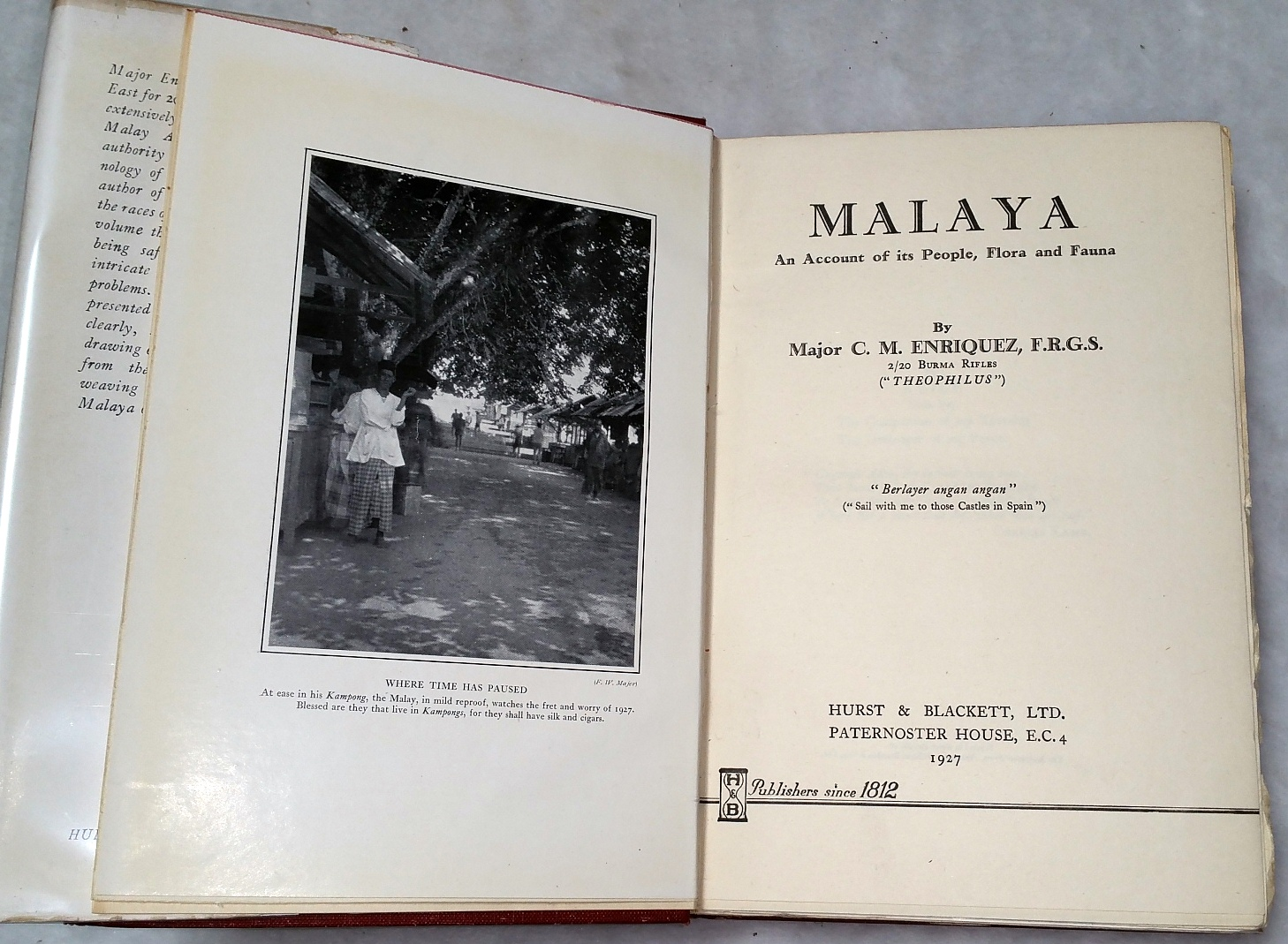 Image for Malaya:  An Account of Its People, Flora and Fauna