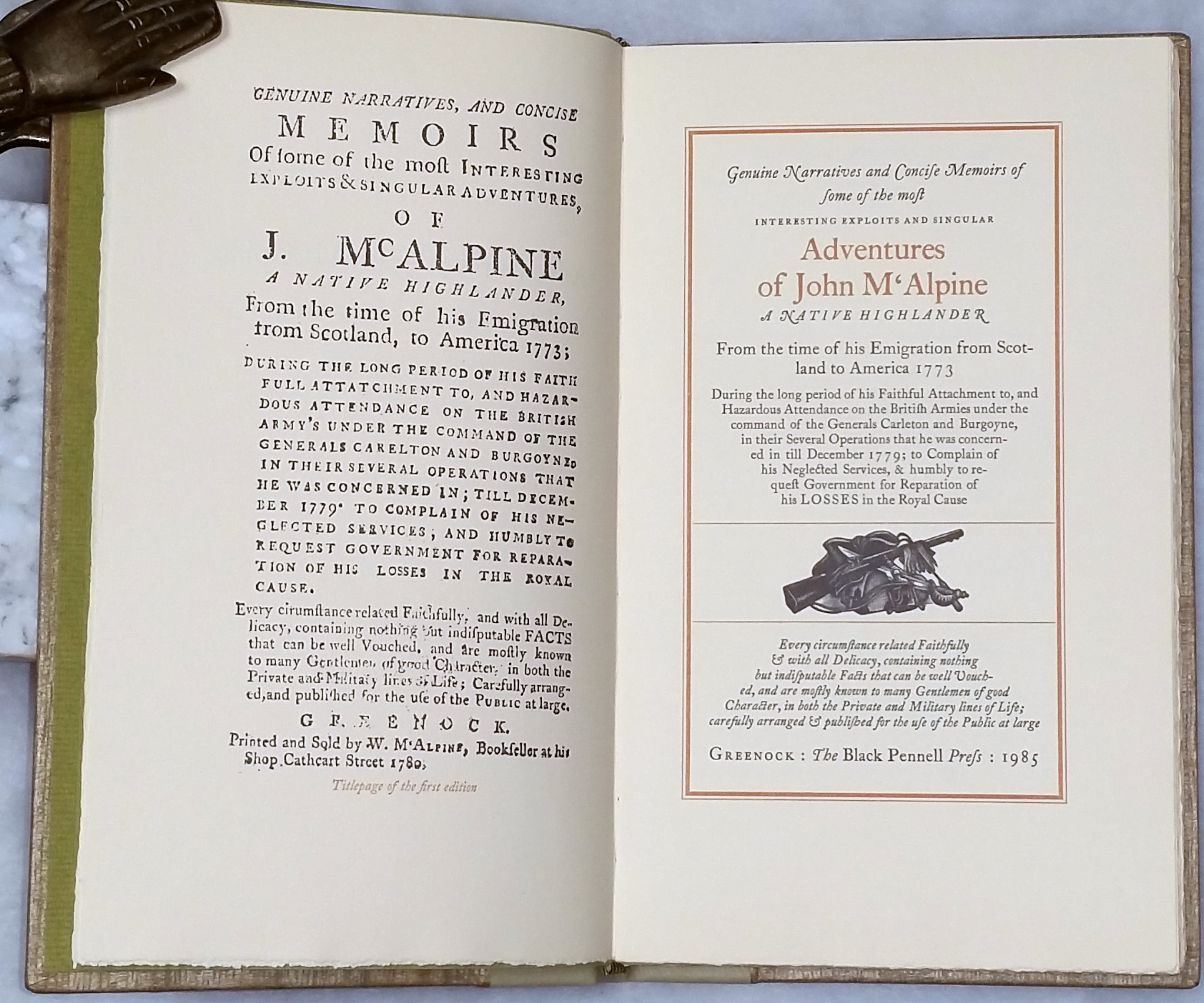 Image for Genuine Narratives and Concise Memoirs of Some of the Most Interesting Exploits and Singular Adventures of John M'Alpine, A Native Highlander, From the time of This Emigration from Scotland to American, 1773...