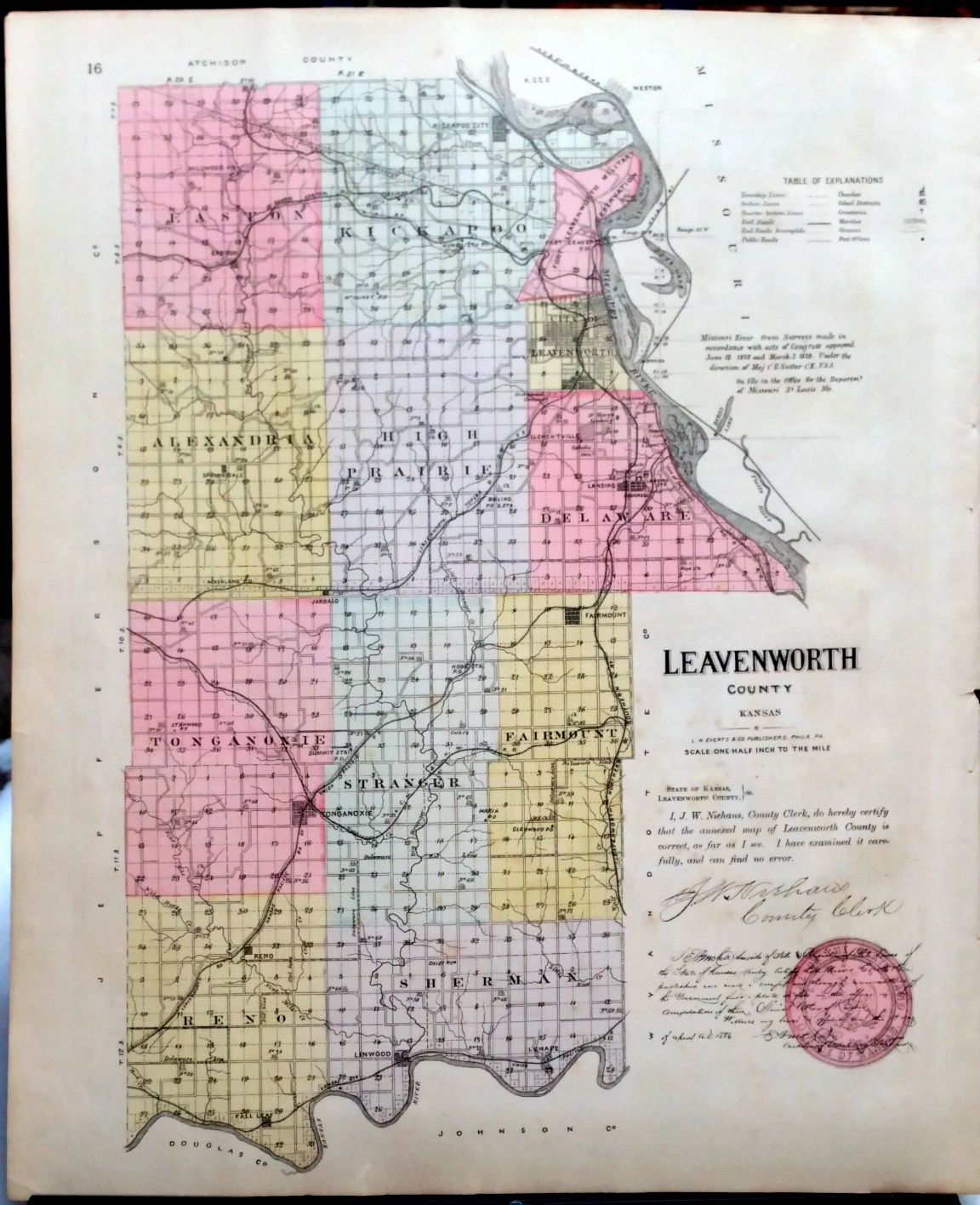Image for [Map] Leavenworth County, Kansas