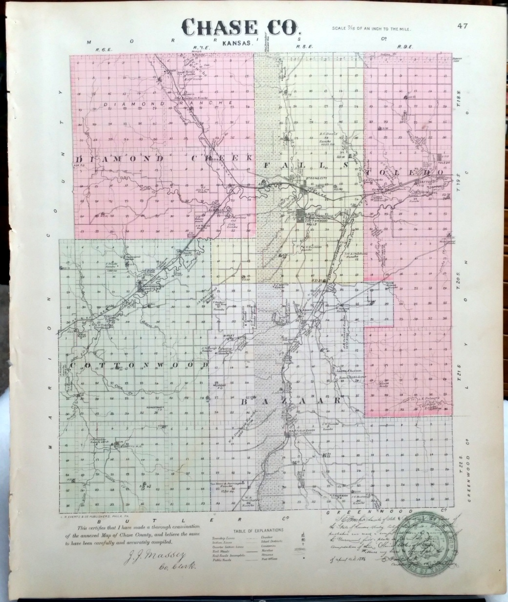 Image for [Map] Chase County, Kansas [backed with] Brown Co.