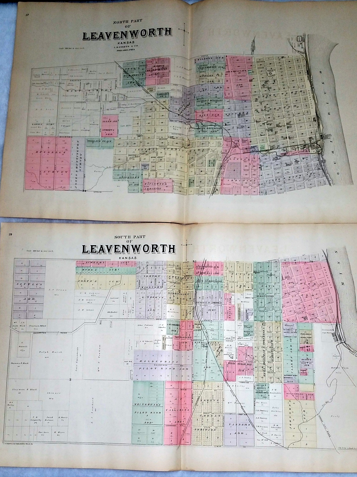 Image for [Map] North Part of Leavenworth, Kansas [with] South Part of Leavenworth, Kansas