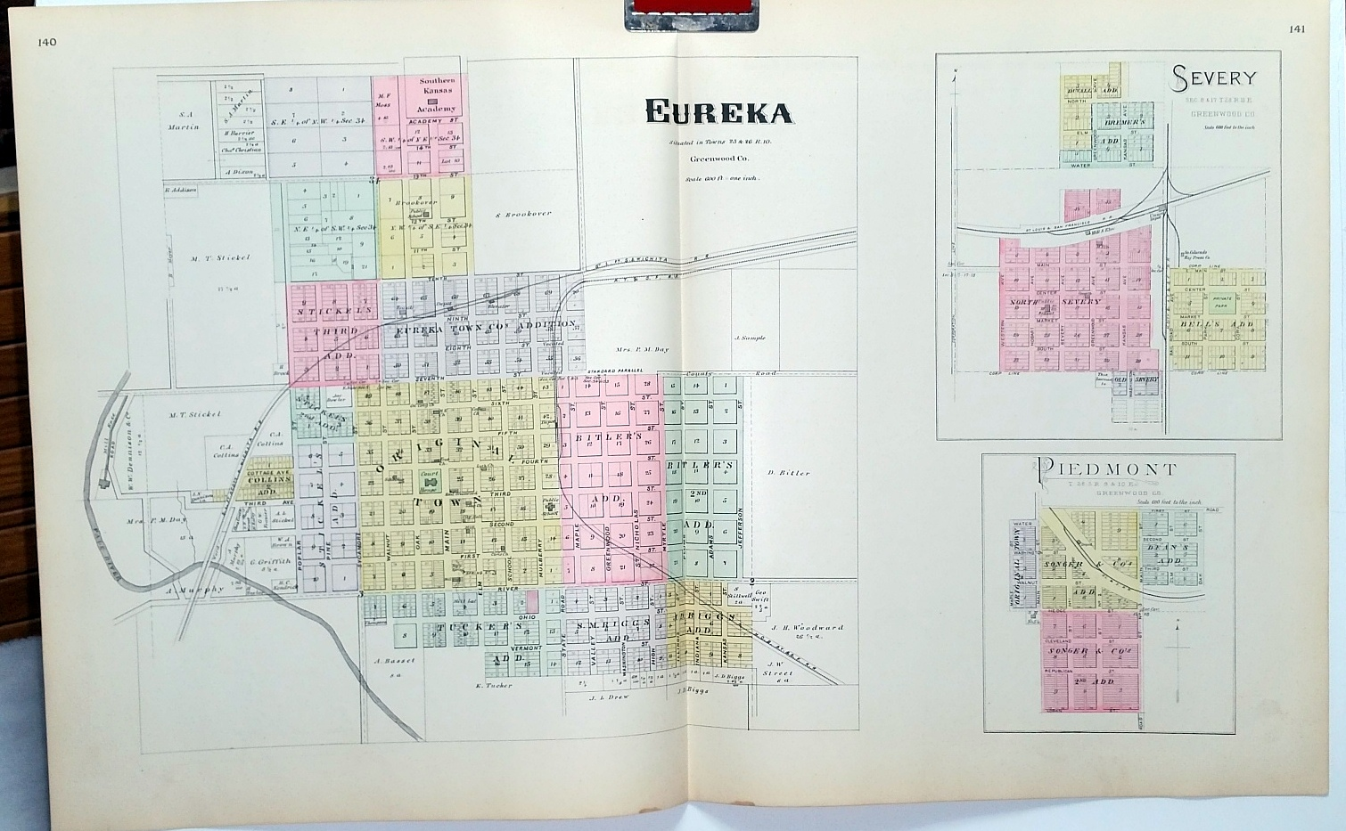 Image for [Map] Eureka, Severy, & Piedmont, of Greenwood County, Kansas